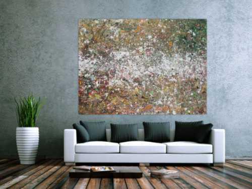 Abstraktes Acrylbild Action Painting zeitgenössisch modern expressionistisch
