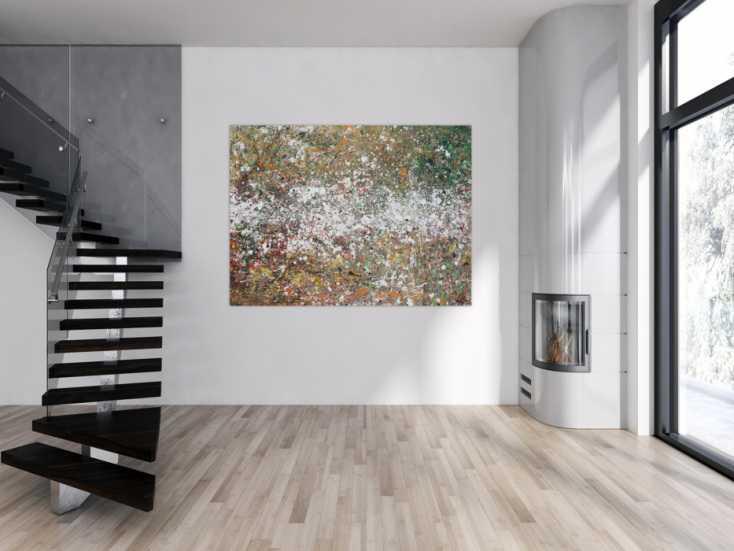 #1309 Abstraktes Acrylbild Action Painting zeitgenössisch modern ... 120x180cm von Alex Zerr