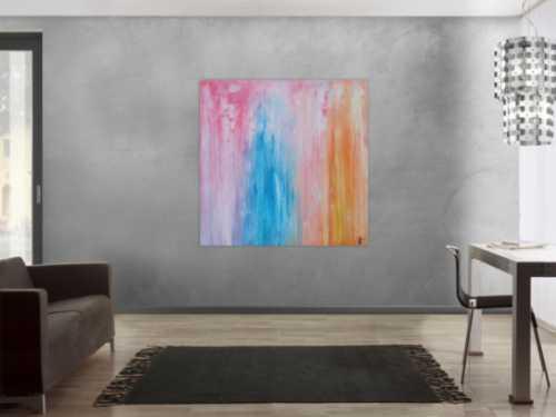 Abstraktes Gemälde modern pastell Farben expressionistisch zeitgenössisch