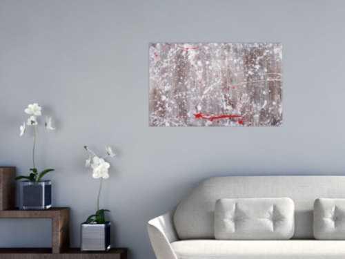 Abstraktes Acrylbild Action Painting und Spachteltechnik modern expressionistisch