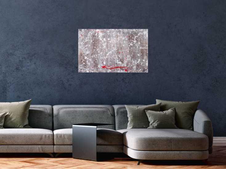 #1313 Abstraktes Acrylbild Action Painting und Spachteltechnik modern ... 50x80cm von Alex Zerr