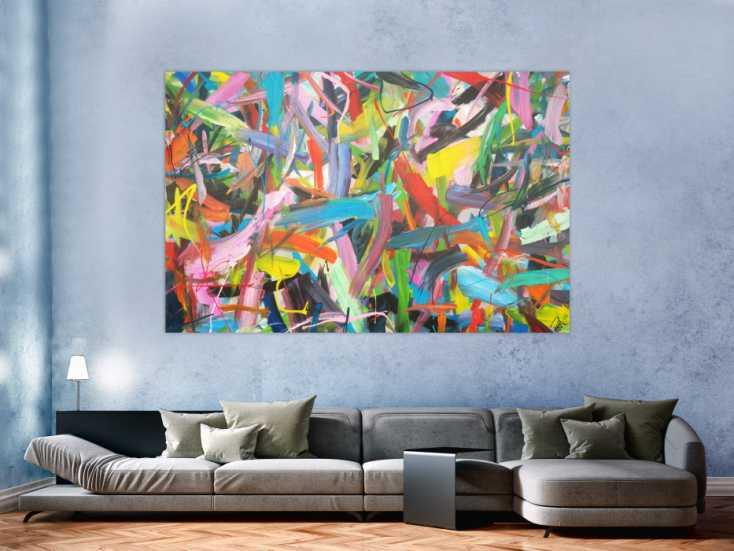 #1314 Abstraktes Acrylbild modernes Gemälde expressionistisch ... 130x200cm von Alex Zerr