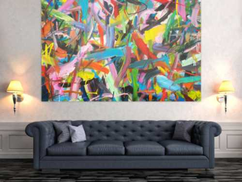 Abstraktes Acrylbild modernes Gemälde expressionistisch zeitgenössisch informel Modern Art