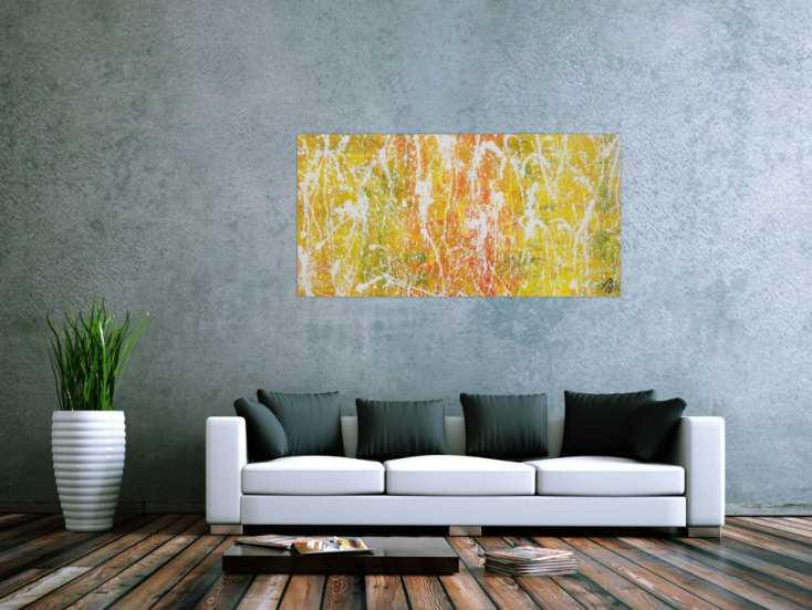 #1317 Abstraktes Acrylbild sehr modern zeitgenössisch expressionistisch ... 70x140cm von Alex Zerr