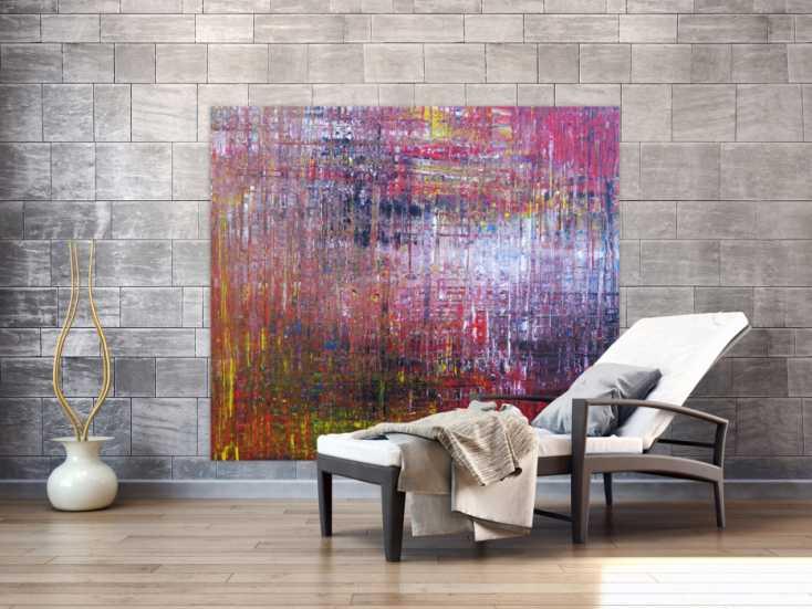 #1325 Abstraktes Acrylbild zeitgenössisch expressionistisch ... 140x160cm von Alex Zerr