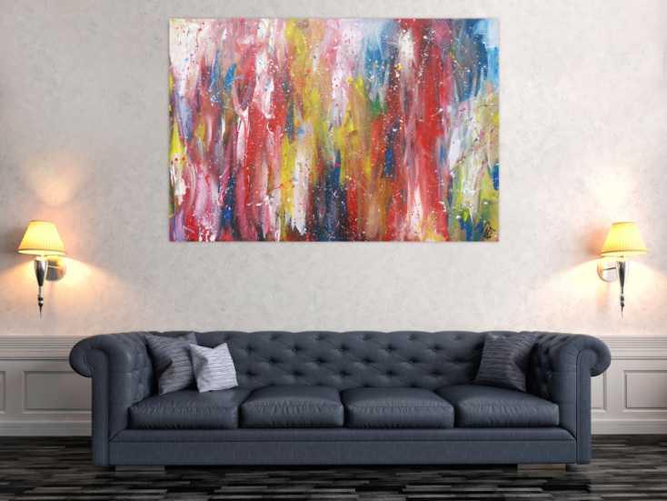 #1326 Abstraktes Acrylbild bunt zeitgenössisch expressionistisch ... 100x150cm von Alex Zerr