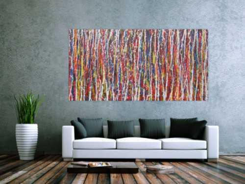 Abstraktes Gemälde modernes Acrylbild bunt Action Painting Modern Art