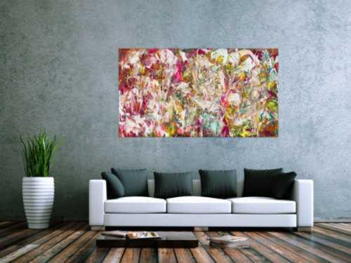 Abstraktes Acrylbild modern bunt zeitgenössisch expressionistisch