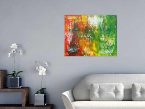Abstraktes Acrylbild bunt Spachteltechnik Modern Art expressionistisch zeitgenössisch