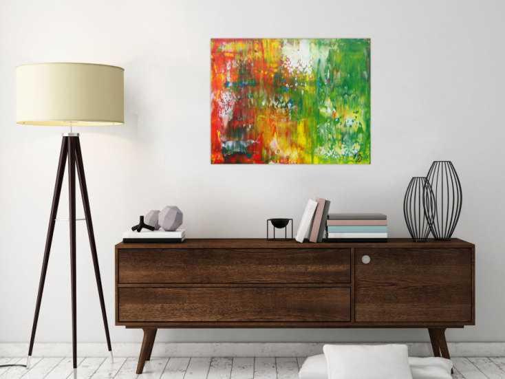 #1334 Abstraktes Acrylbild bunt Spachteltechnik Modern Art ... 60x75cm von Alex Zerr