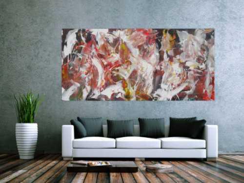 Abstraktes Acrylbild Action Painting Modern Art expressionistisch zeitgenössisch