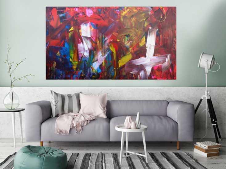 #1337 Abstraktes Acrybild modernes Gemälde handgemaltes Bild original ... 100x180cm von Alex Zerr