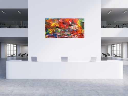 Abstraktes Acrlbild XXL bunt modern