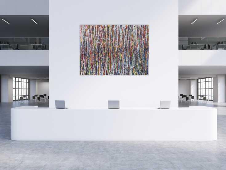 #1351 Abstraktes Acrylbild sehr bunt Action Painting Modern Art ... 150x200cm von Alex Zerr