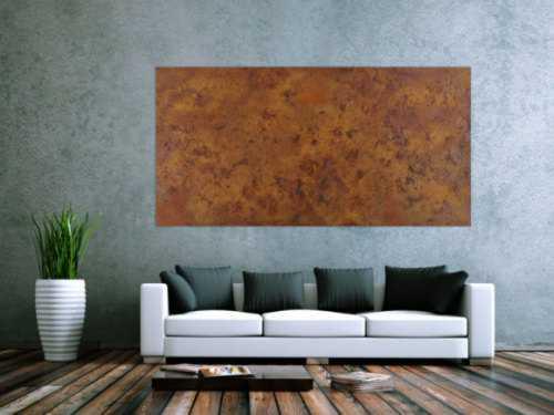 Abatraktes Gemälde aus echtem Rost mit Struktur Modern Art zeitgenössisch