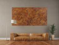Abstraktes Gemälde aus echtem Rost mit Struktur zeitgenössisch Modern Art aus Rost