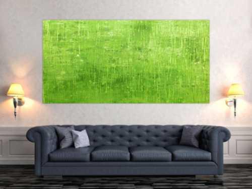 Abstraktes Acrylbild grün modern