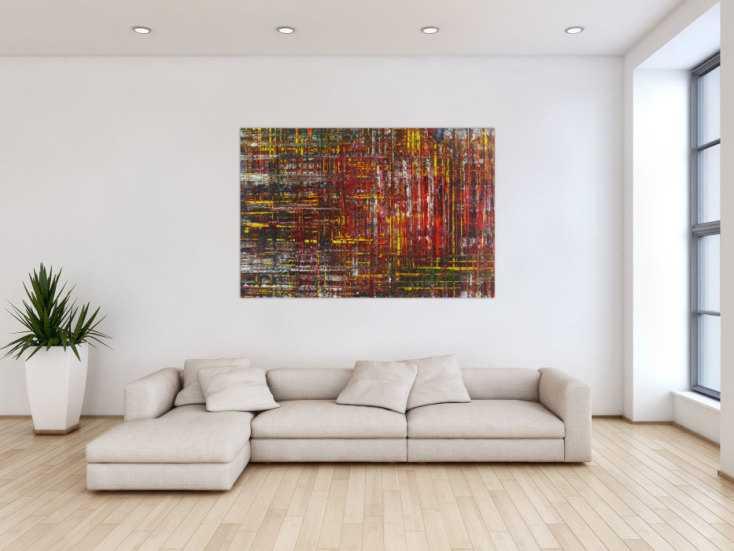 #1364 Abstraktes Gemälde Acrylbild Modern Art Spachteltechnik ... 100x150cm von Alex Zerr