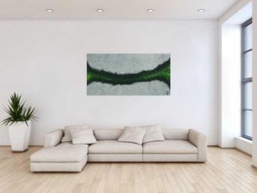 Xxl Acrylbilder abstraktes acrylbild grau schwarz grün modern art zeitgenössisch