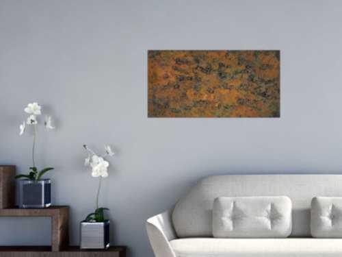 Abstraktes Bild aus echtem Rost mit grober Struktur Modern Art zeitgenössich