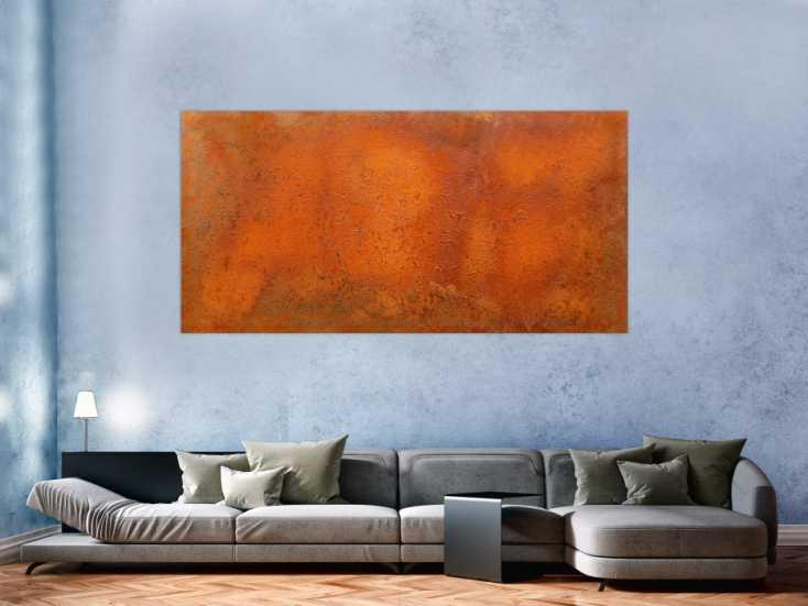 #137 Abstraktes Rostbild aus echtem Rost 100x200cm von Alex Zerr