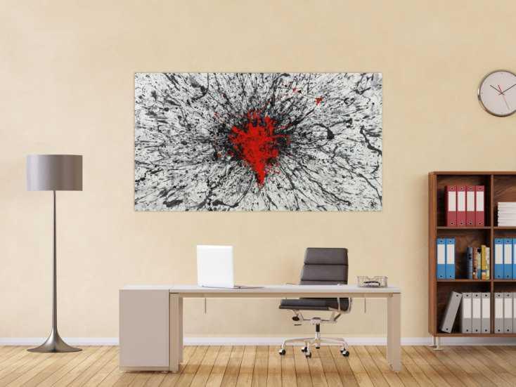 #1383 Abstraktes Acrylbild Action Painting Modern Art zeitgenössisch ... 100x180cm von Alex Zerr