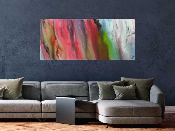 #1386 Abstraktes Acrylbild Modern Art zeitgenössisch abstrakt ... 60x140cm von Alex Zerr