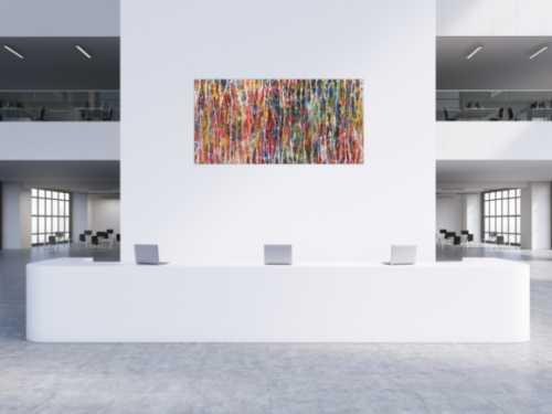 Abstraktes Acrylbild bunt modern