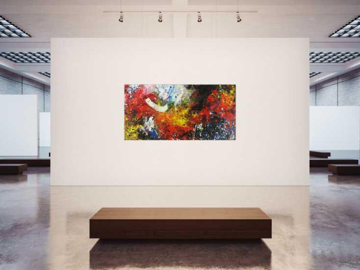 #1401 Abstraktes Acrylbild mondernes Gemälde Action Painting Modern Art ... 100x200cm von Alex Zerr