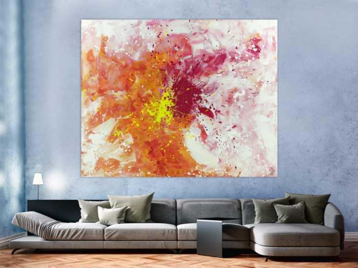 #1402 Abstraktes Acrylbild Modern Art groß expressionistisch Action ... 160x200cm von Alex Zerr