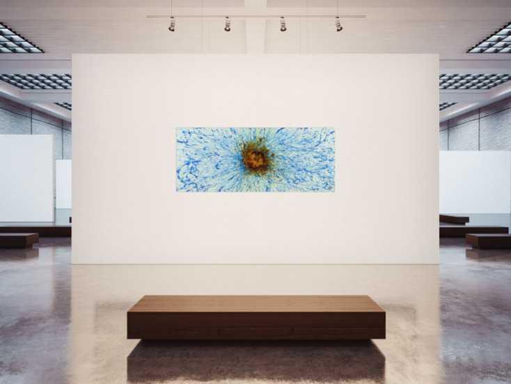 #1404 Abstraktes Acrylbild aus echtem Rost und Acrylfarbe Action Paintng ... 80x200cm von Alex Zerr