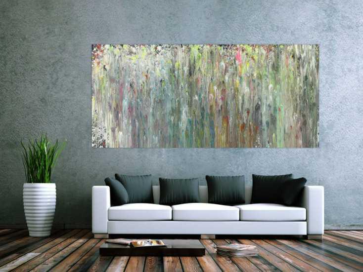 #1413 Abstraktes Acrylbild sehr modern zeitgenössisch expressionistisch ... 100x220cm von Alex Zerr