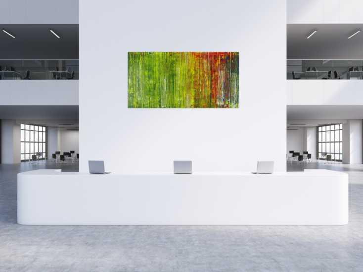 #1420 Abstraktes Acrylbild bunt in Spachteltechnik sehr modern ... 100x200cm von Alex Zerr