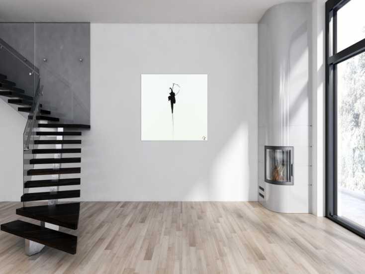 #1423 Abstraktes Acrylbild zeigenössisch Action Painting minimalistisch ... 100x100cm von Alex Zerr