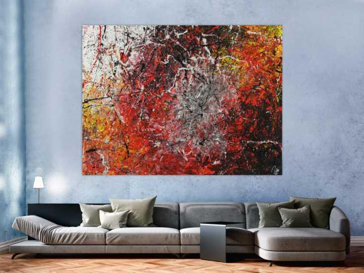 #1425 Abstrakres Acrylbild Action Painting Modern Art zeitgenössisch ... 150x200cm von Alex Zerr