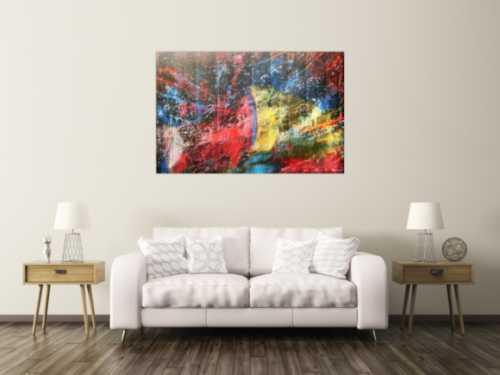 Abstraktes Actylbild Bunt modern