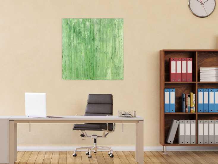 #1435 Abstraktes Acrylbild Modern Art handgemalt auf Leinwand Action ... 80x80cm von Alex Zerr