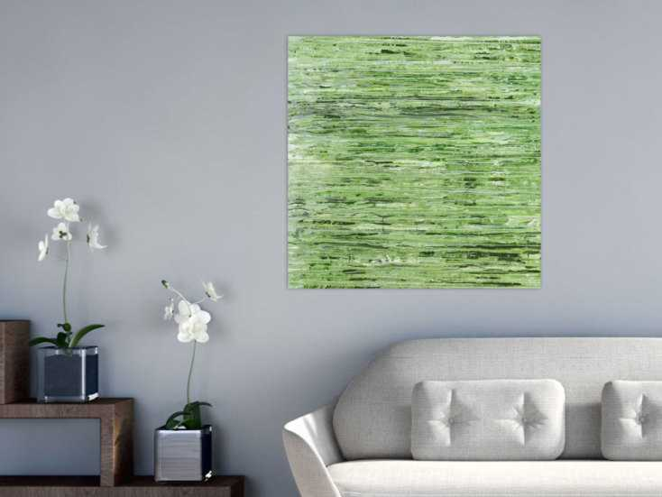 #1437 Abstraktes Acrylbild Modern Art handgemalt auf Leinwand Action ... 80x80cm von Alex Zerr
