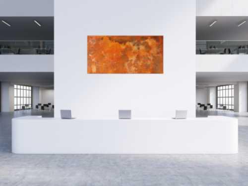 Abstraktes Rostbild aus echtem Rost sehr modern
