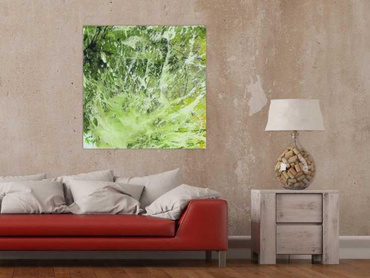 #1440 Abstraktes Acrylbild Modern Art handgemalt auf Leinwand Action ... 80x80cm von Alex Zerr