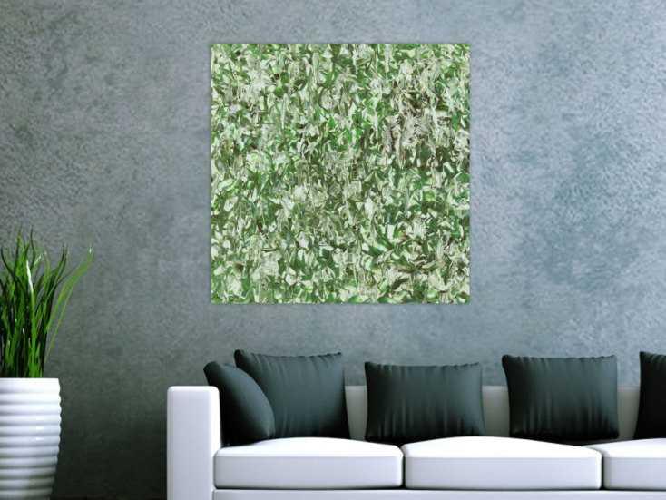 #1447 Abstraktes Acrylbild Modern Art handgemalt auf Leinwand Action ... 80x80cm von Alex Zerr