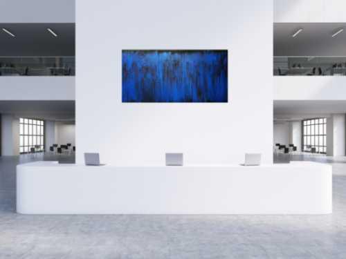 Abstraktes Acrylbild blau modern