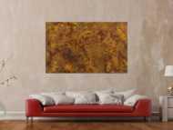 Abstraktes Gemälde aus echtem Rost auf Leinwand handgemalt Modern Art zeitgenössisch