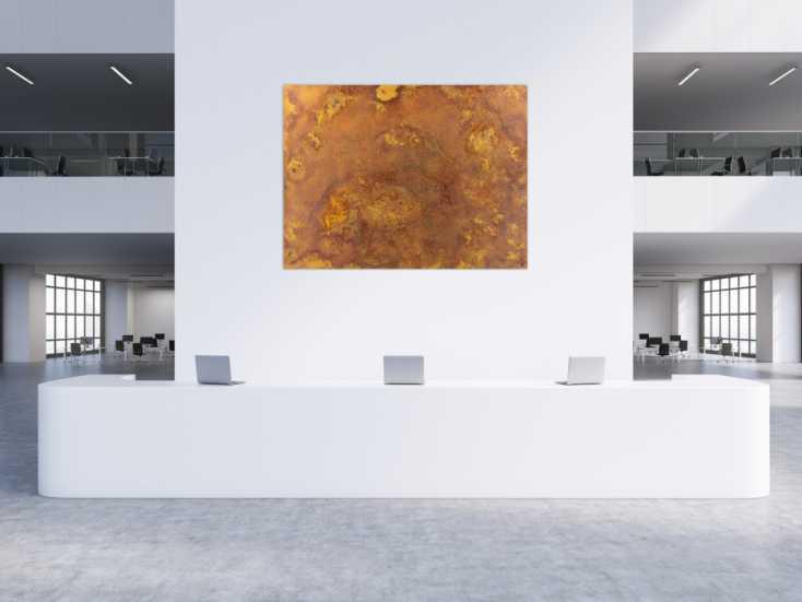 #1465 Abstraktes Gemälde aus echtem Rost auf Leinwand zeitgenösssich ... 150x200cm von Alex Zerr