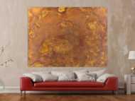 Abstraktes Gemälde aus echtem Rost auf Leinwand zeitgenösssich handgemalt Modern Art