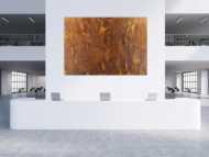Abstraktes Gemälde aus echtem Rost auf Leinwand XXL handgemalt zeitgenössisch Modern Art
