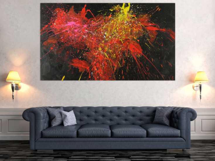 #1480 Abstraktes Acrylbild Modern Art zeitgenössisch handgemalt auf ... 110x190cm von Alex Zerr