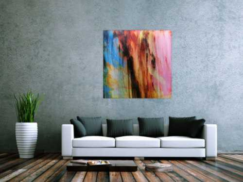 Acrylbild abstrakt modern quadratisch