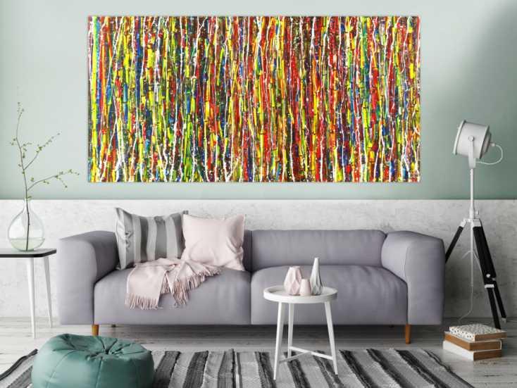 #1511 Abstraktes Acrylbild Modern Art zeitgenössisches Gemälde handgemalt ... 100x200cm von Alex Zerr