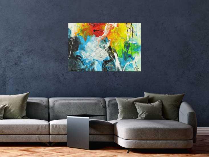 #1512 Abstraktes Acrylbild auf Leinwand handgemalt zeitgenössisch Modern ... 60x90cm von Alex Zerr